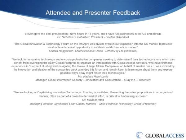 8 April 2013 Presentation to Australian ICT Companies